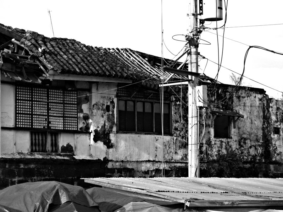 Alberto House - Binan City, Laguna Philippines  The Alberto house in Biñan, Laguna is one of the only original structures associated with Rizal left standing in the Philippines. It has been left to rot in the town plaza of Biñan, waiting for the local government to save it. It is the home where Teodora Alonso, Rizal's mother, grew up.   Photographs by Bernard Eirrol Tugade Caption Jenny Carpena Chiucinco-Temprosa / www.gmanetwork.com