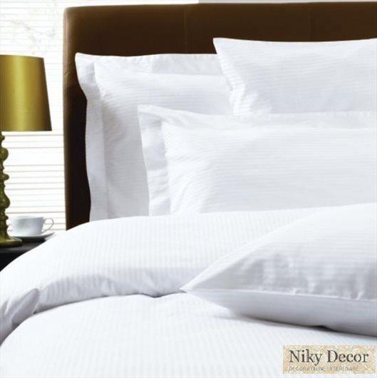 Lenjerie de  pat damasc pentru Hotel - Lenjerii de pat bumbac satinat
