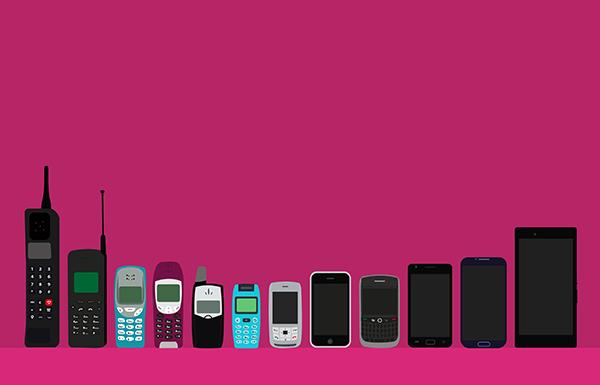 قصة حياة الهواتف المحمولة منذ عام 1973 الى عام 2008