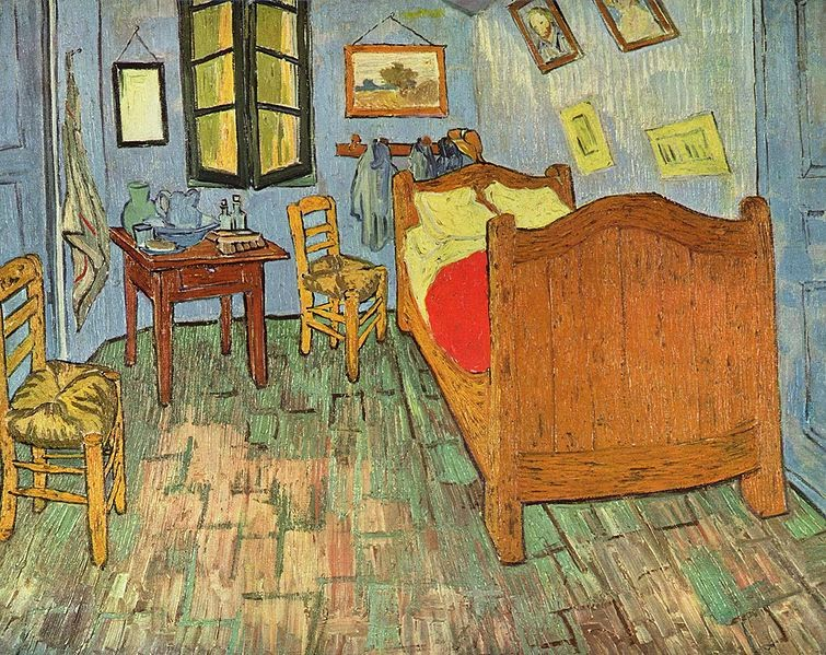 art paintings vincent van gogh the bedroom in arles 3 versions