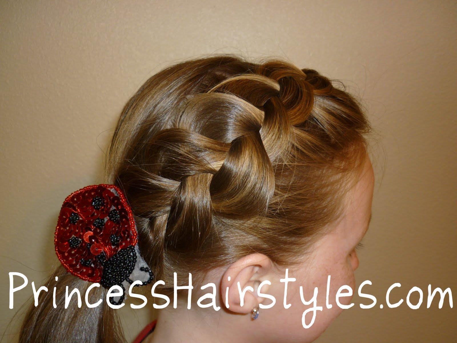 Strange Loose French Braid Hairstyle Hairstyles For Girls Princess Short Hairstyles Gunalazisus