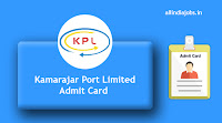 Kamarajar Port Limited Hall Ticket