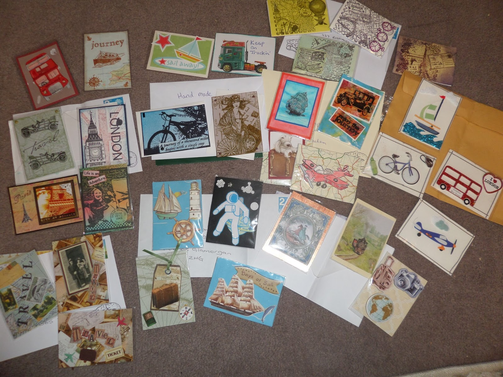 Alizabethy - Card Making Addict!: This months ATC Travel Swaps