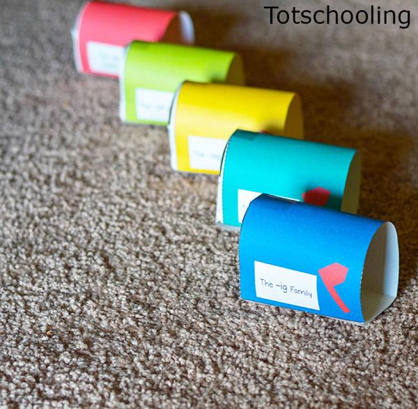 preschool mailbox mailbox word families kindergarten activity totschooling 165