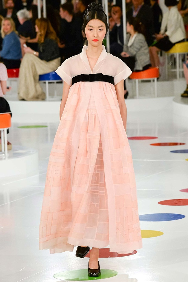 Cruise 2016 Chanel Korean Hanbok Gown on Runway