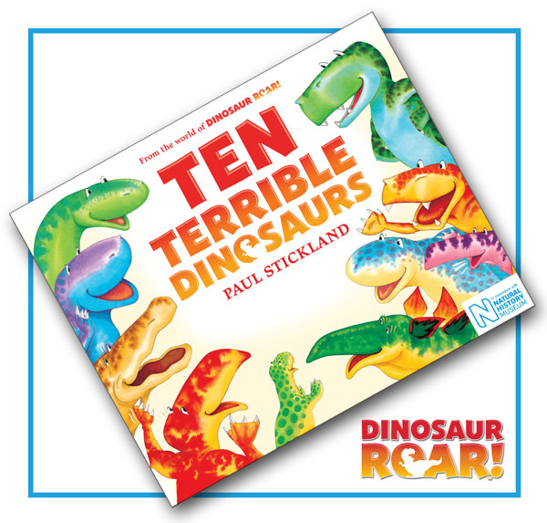 ten terrible dinosaurs, dinosaur roar, paul stickland, kids dinosaurs, classic childrens dinosaur book,