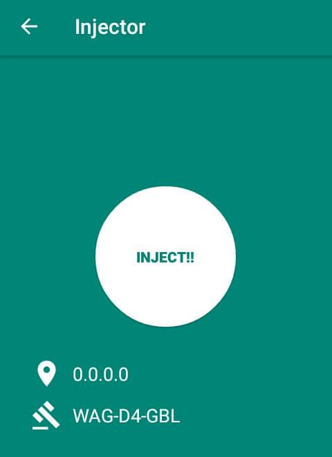 """Silahkan pilih menu """"Injector"""" kemudian pilih """"Inject!!"""" dan silahkan tunggu beberapa saat hingga terhubung."""