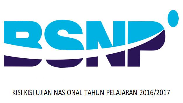 Silakan download Kisi-Kisi UN (Ujian Nasional) Tahun Pelajaran 2016/2017 langsung dari situs resmi BSNP