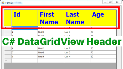 C# DataGridView Header