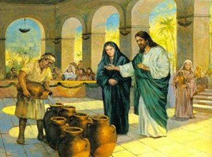 Isus transformă apa în vin