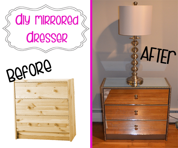 DIY Mirrored Dresser TUTORIAL. I lovveeee mirrored furniture! Every time I  see something mirrored in stores, I just drool. But most mirrored furniture  can ...
