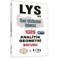Yediiklim LYS den Önce Çözülmesi Gereken 1025 Analitik Geometri Sorusu