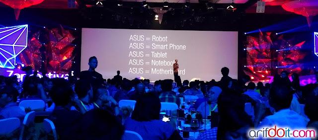Portfolio Asus Robot gala diner Asus Zenfestival 2015