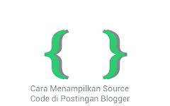 Cara Menampilkan Kode Dalam Postingan