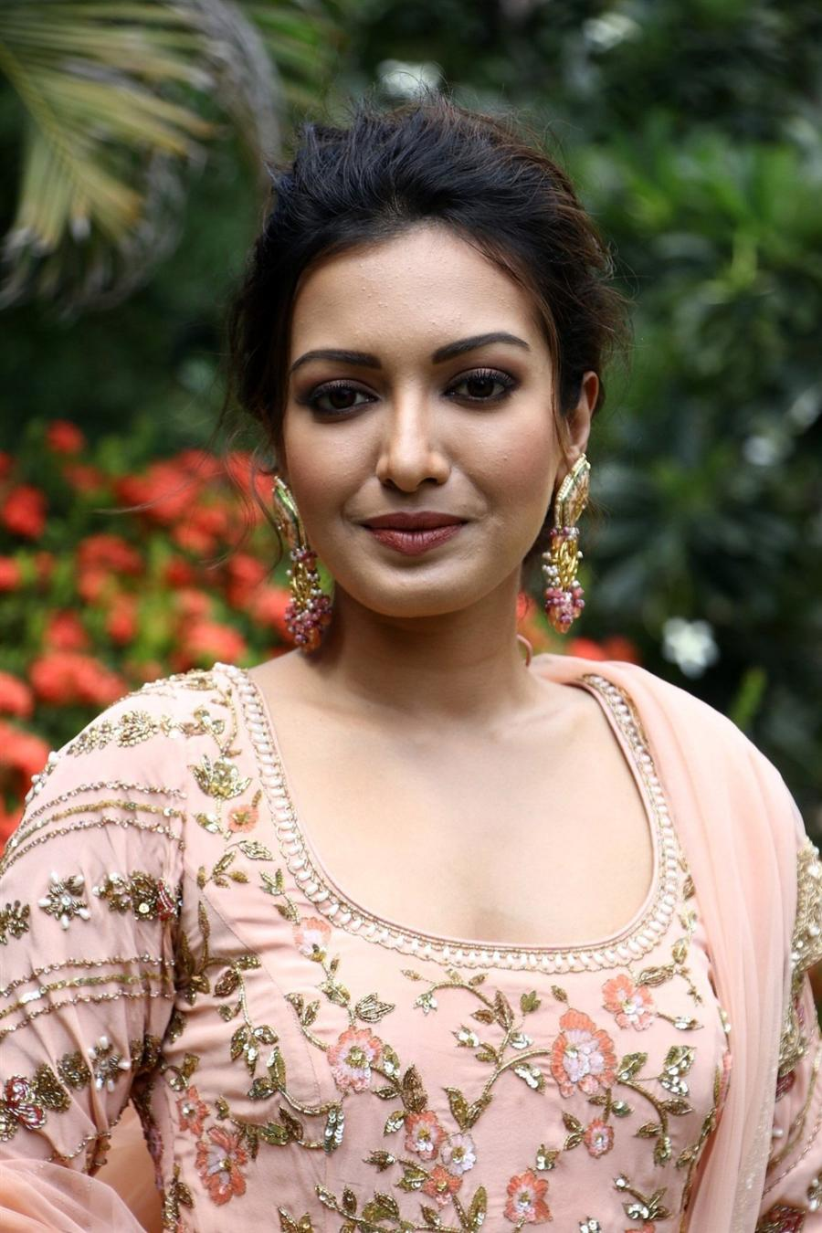 Indian Actress Catherine Tresa at Aruvam Movie Press Meet