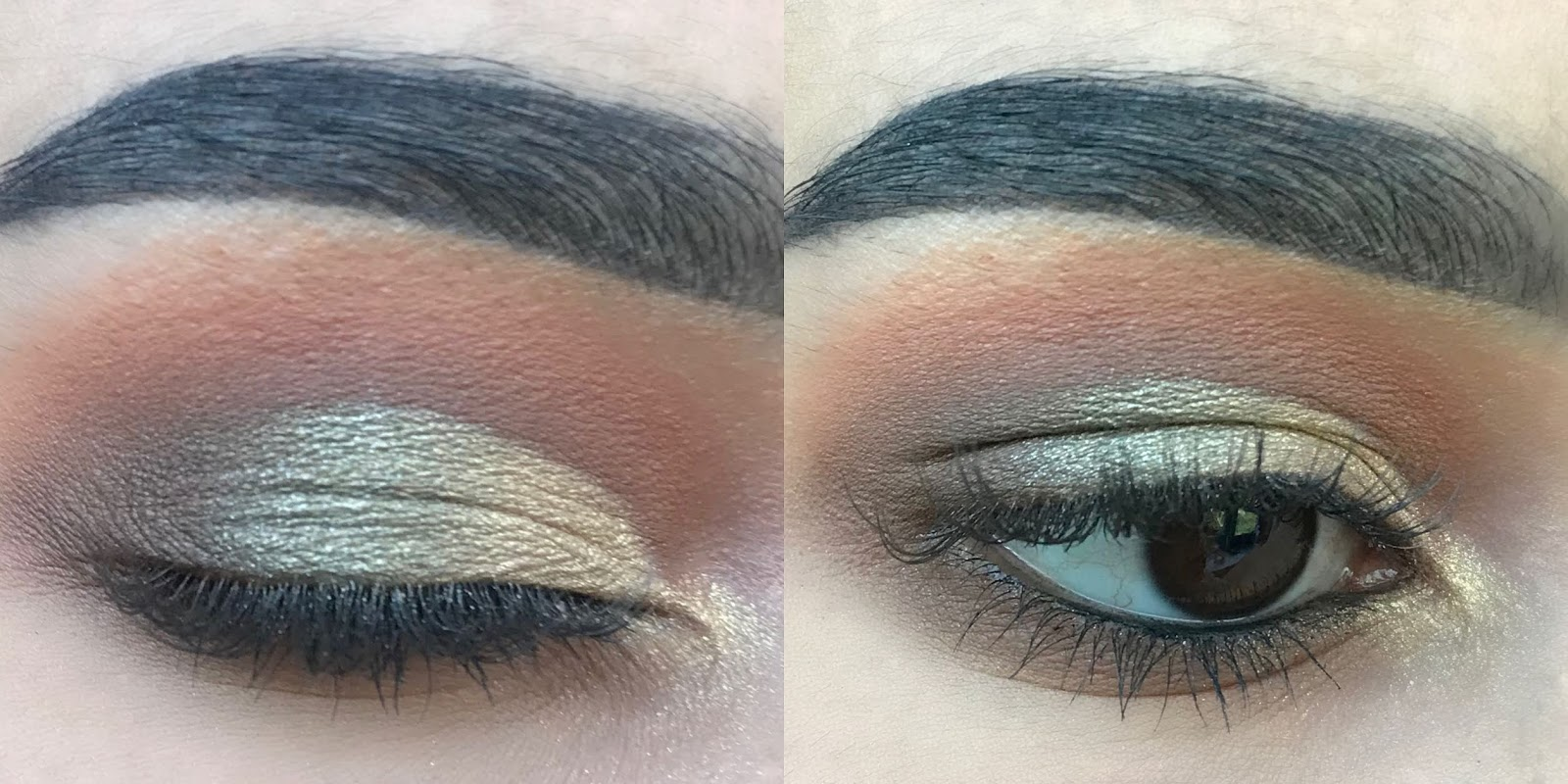 soft camo eye look