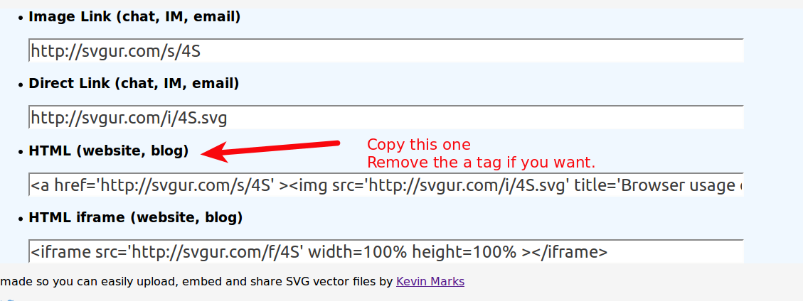 Add/Embed SVG to Blogger website