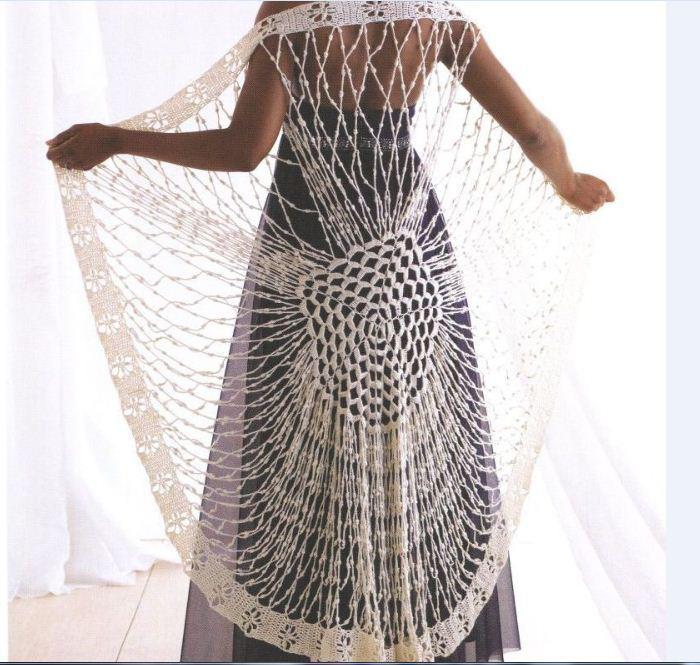 Tunica Manton Belleza en Crochet