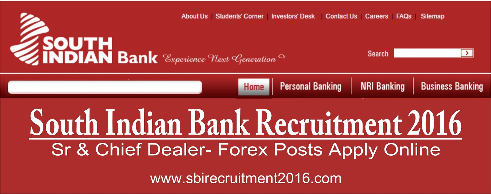 Bank forex jobs in chennai