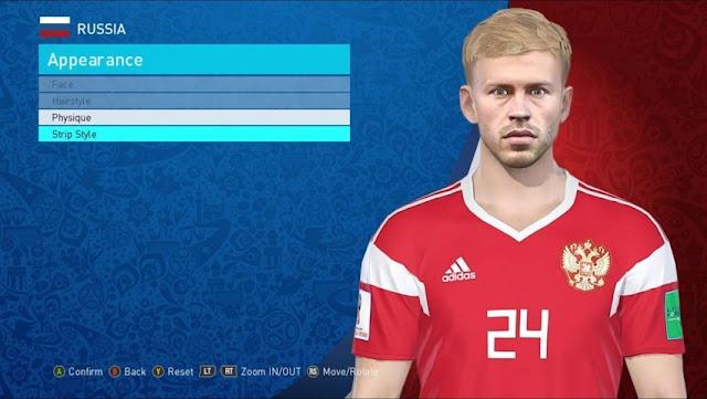 Fedor Smolov Face PES 2018