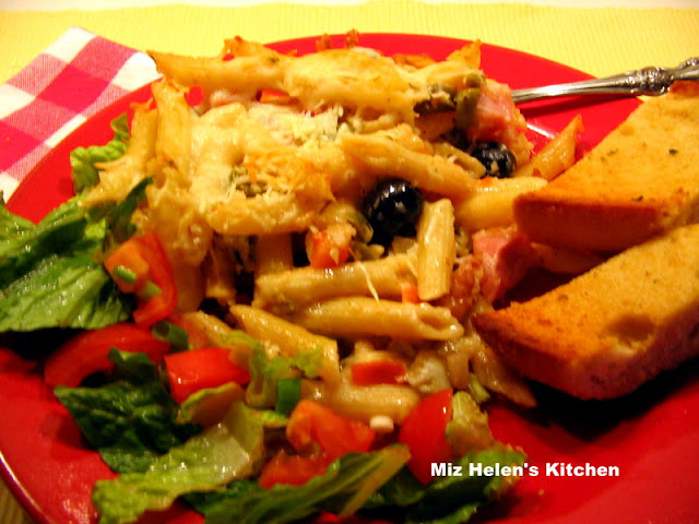 Muffaletta Casserole at Miz Helen's Country Cottage