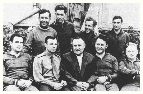 Foto originale: Sochi six Korolev e cosmonauti, è presente anche Nelyubov.