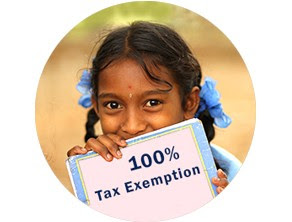 Donations to Akshaya Patra have 100% Tax Exemption.