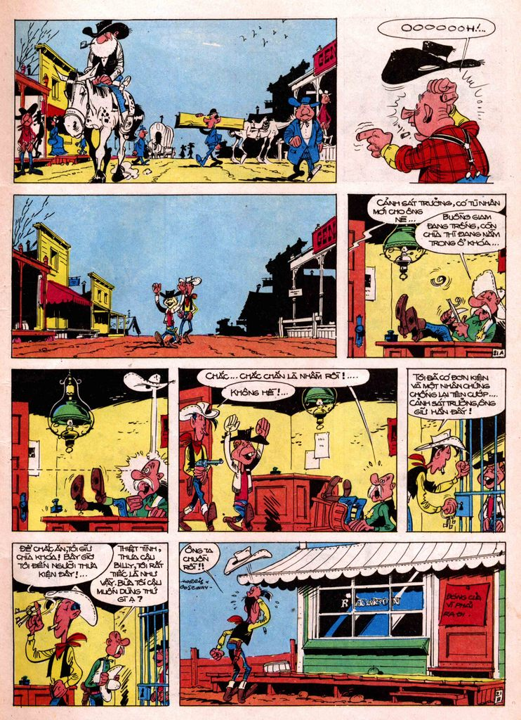 Lucky Luke tap 7 - ten billy the kid trang 21