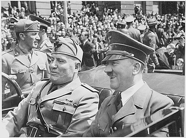 Adolf Hitler and Benito Mussolini in Munich, Germany, June 1941