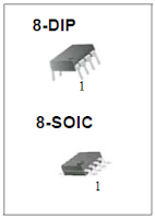 Encapsulados DIP y SOIC LM393,LM393A,LM293A,LM2903.