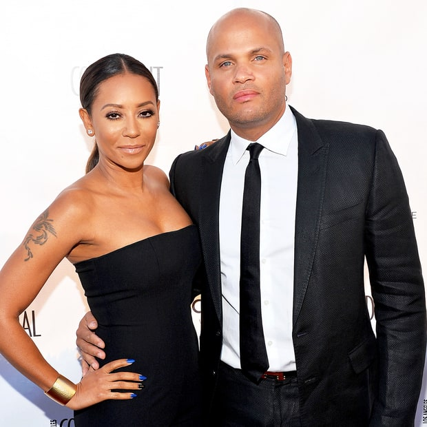 Mel B and Stephen Belafonte arrive at the Los Angeles Confidential Magazine celebration of the magazine's Women Of Influence issue in 2014