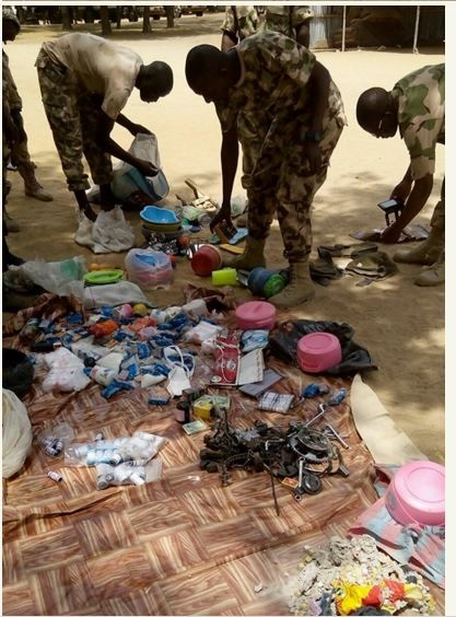 Nigerian Soldiers Smash Hideout of Cattle Rustlers, Kill Several Bandits and Recover Items (Graphic Photos)