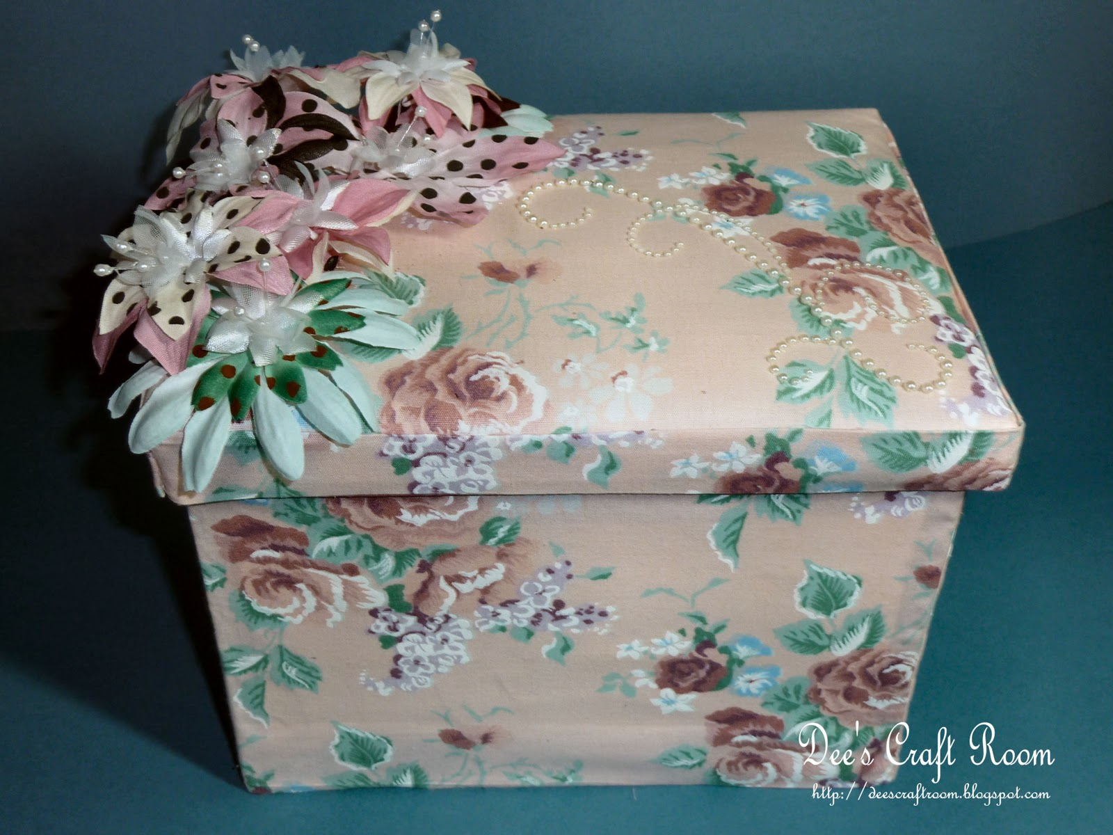 Dee S Craft Room Off The Page Hand Made Fabric Covered Box