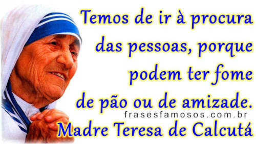 Madre Teresa de Calcutá Mensagem