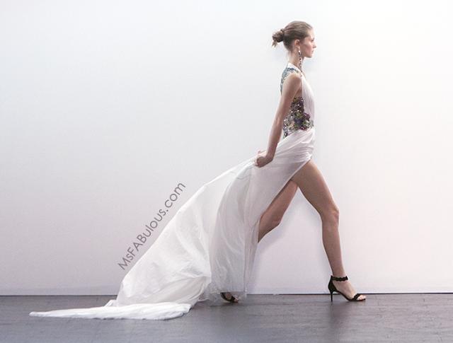 white dress nyfw