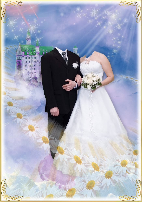 неё фотомонтаж свадебных фотографий выполнив задание, женщина