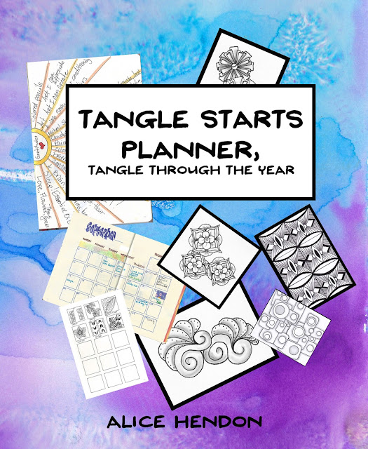 A very colorful book cover of Tangle Starts Planner