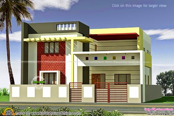 Nice flat roof home