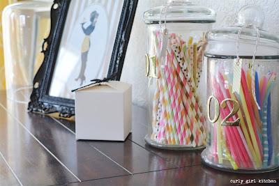 Stripey Straws, Birthday Candles, Candy Jars