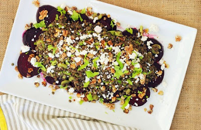 Recipe Salad with Walnuts and Beetroot