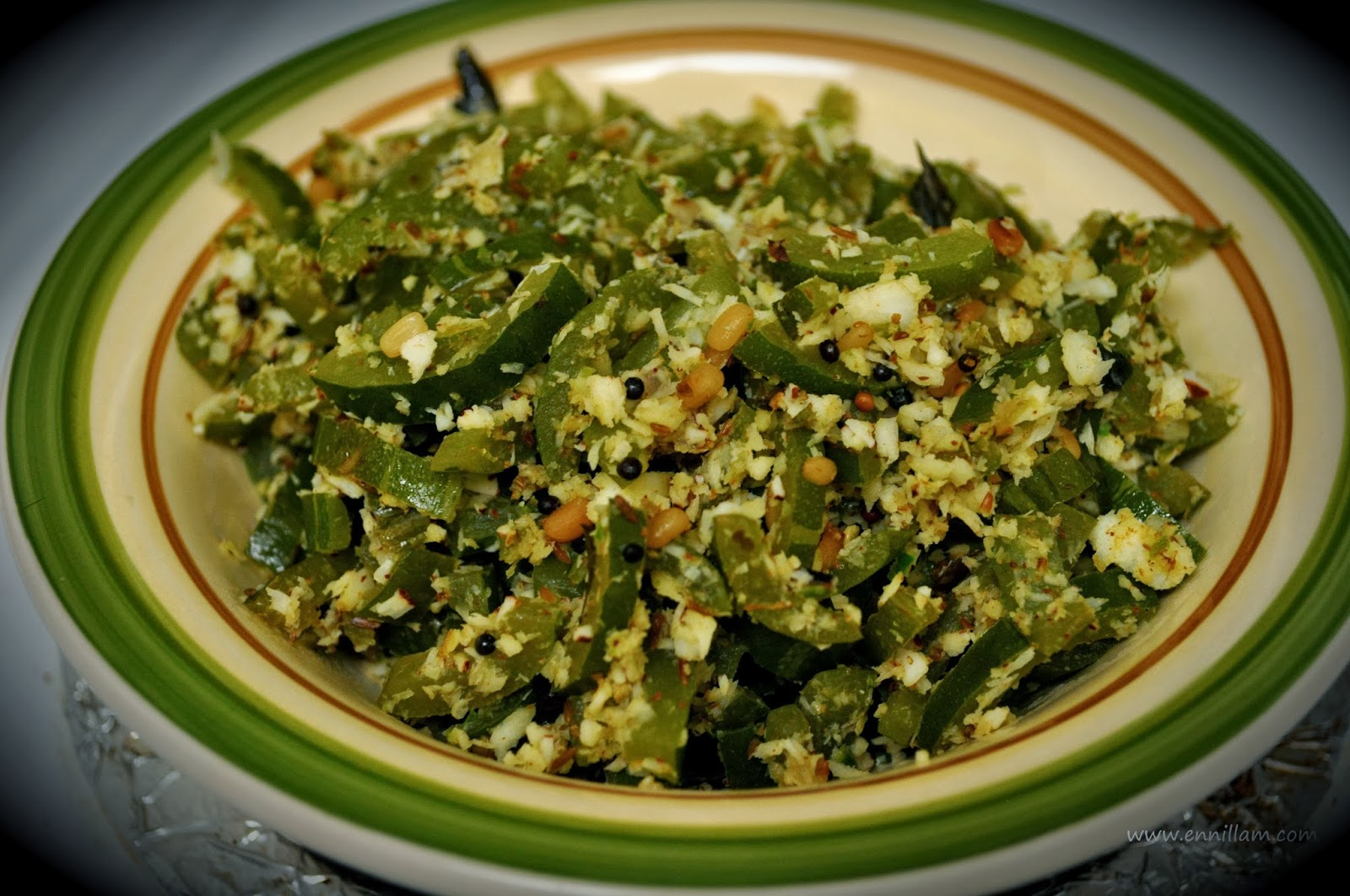 Pudalangai poriyal / Snake gourd dry curry   Bala's e-kitchen