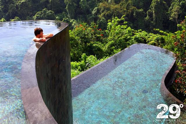 Tre imponerande hotell vid Ubud