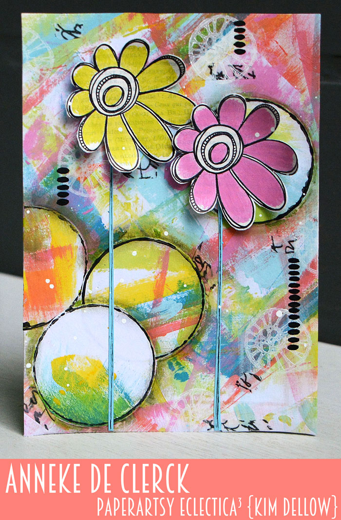 New PaperArtsy Eclectica³ {Kim Dellow} Products Showcase: Anneke De Clerck Bright page