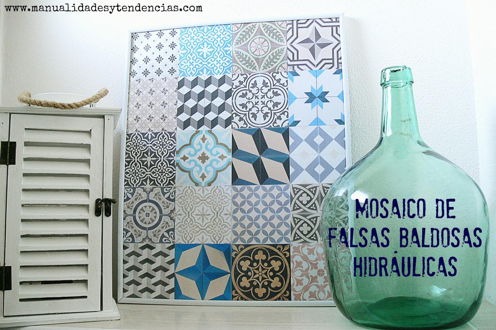 Manualidades y tendencias: Falso mosaico de baldosas hidráulicas