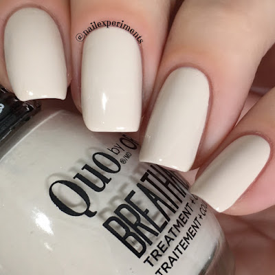 quo by orly breathable almond milk swatch