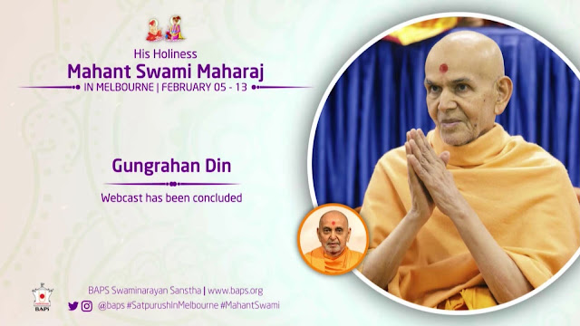 Mahant Swami Maharaj Live Webcast in Asia Pacific