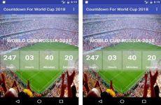 Aplicación de cuenta regresiva para la Copa del Mundo de Rusia 2018 (Android)