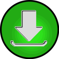 download glowing icon