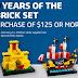 樂高60周年復刻迷你Set:6399機場輕軌、375城堡、6285海盜船、928太空船