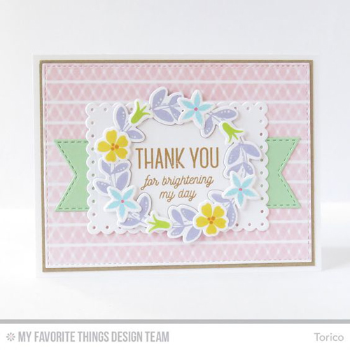 Handmade card from Torico featuring products My Favorite Things #mftstamps